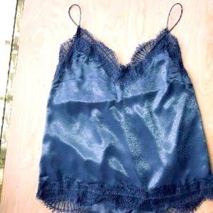 SOLD Lulu's Medium Blue Lace Cami